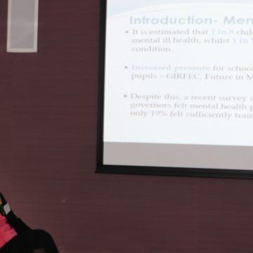 Mallika Punukollu speaking at SHINE conference
