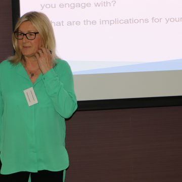 Suzanne Hargreaves speaking at SHINE conference