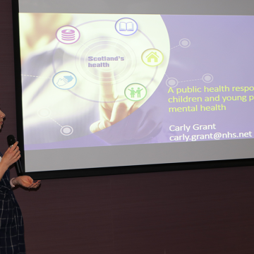 Carly Grant speaking at SHINE conference