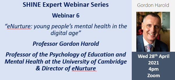 SHINE Webinar 6: eNurture – young people's mental health in the digital age
